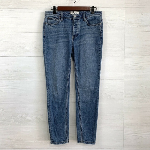 Free People Denim - Free People Star Fray Pocket Hi Rise Skinny Jean
